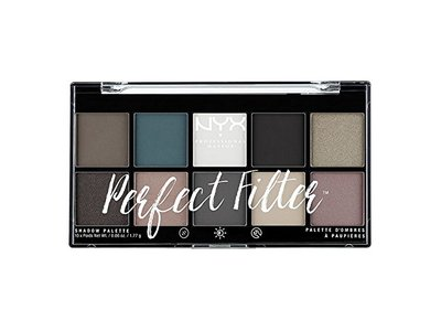 NYX PROFESSIONAL MAKEUP Perfect Filter Shadow Palette, Gloomy Days, 0.6 Ounce