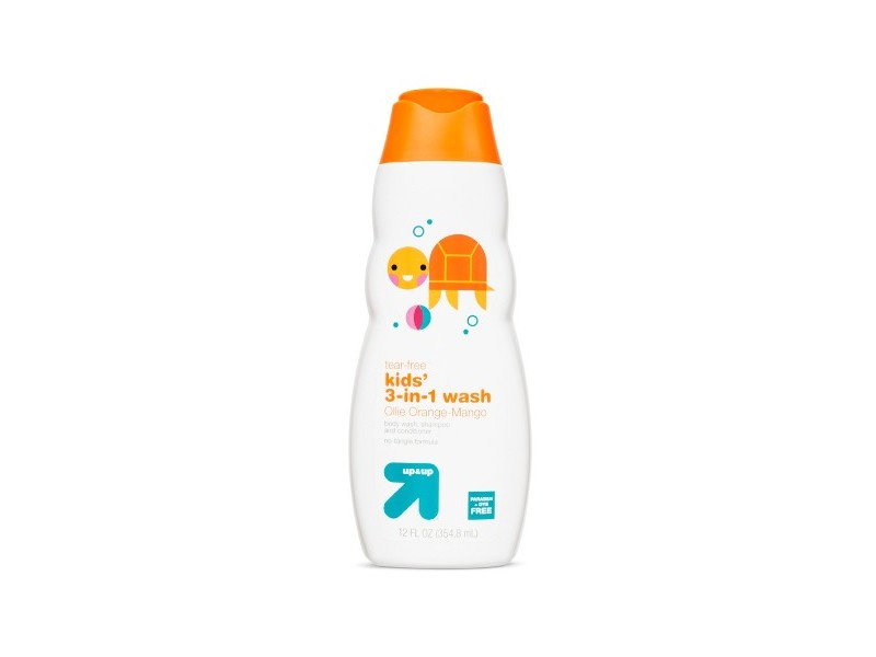 Up & Up 3-in-1 Body Wash, Shampoo and Conditioner, Mango, 12 oz