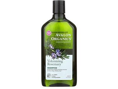 Avalon Organics Shampoo, Volumizing Rosemary, 11 fl oz (Pack of 2)