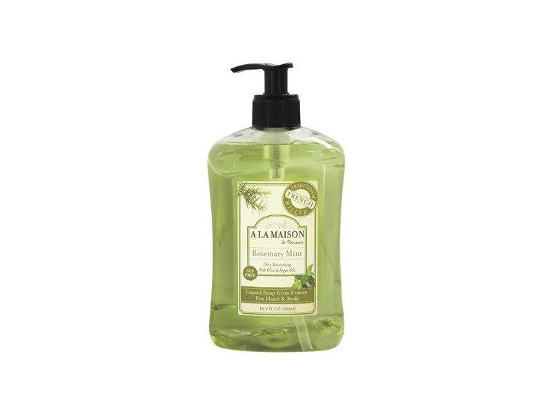 A La Maison French Liquid Soap, Rosemary Mint, 16.9 Oz