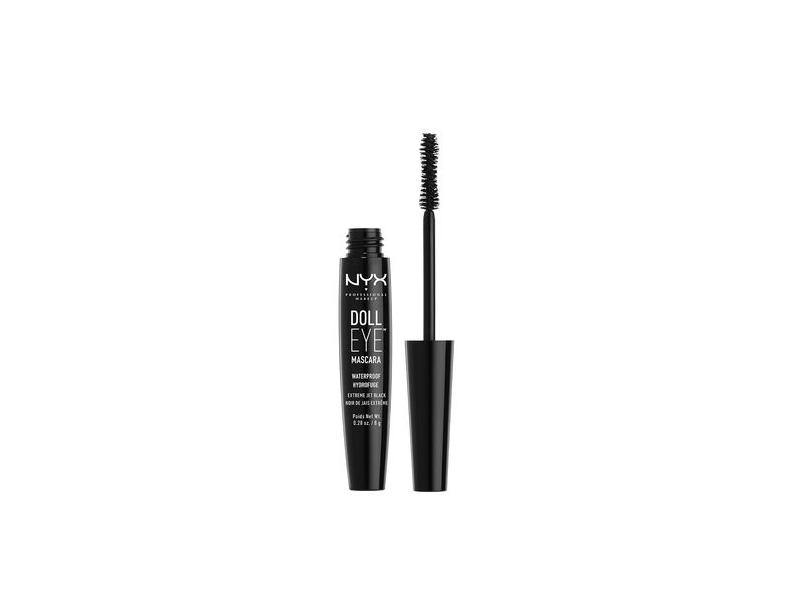 NYX Doll Eye Mascara, DE03 Waterproof, Black, 0.28 oz