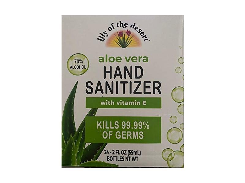 Lily Of The Desert Aloe Vera Hand Sanitizer, 2 fl oz/59 mL