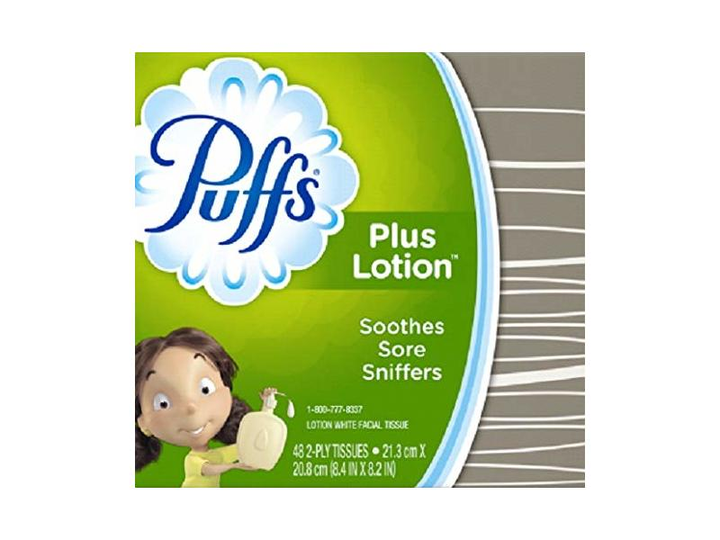 Puffs Plus Lotion Facial Tissue, White, 48 Count