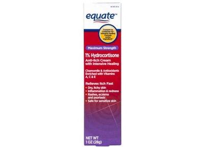 Equate Maximum Strength 1% Hydrocortisone Anti-Itch Cream, 1 oz