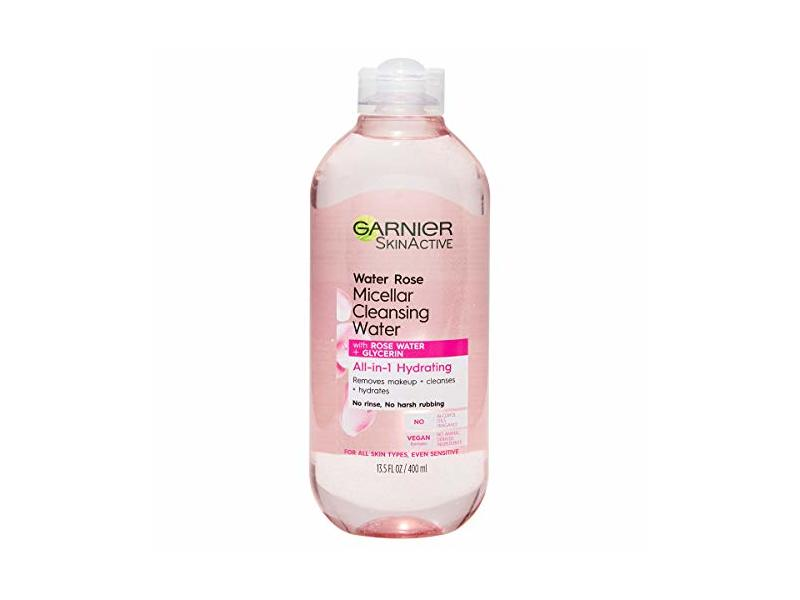 Garnier SkinActive Micellar Cleansing Water with Rose Water and Glycerine 13.5 Fl Oz