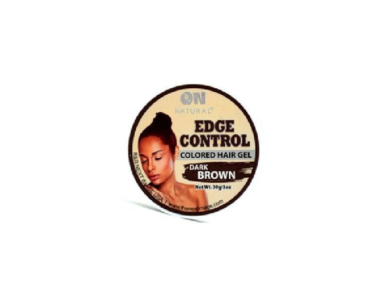 On Natural Edge Control Colored Hair Gel, Dark Brown, 1 oz
