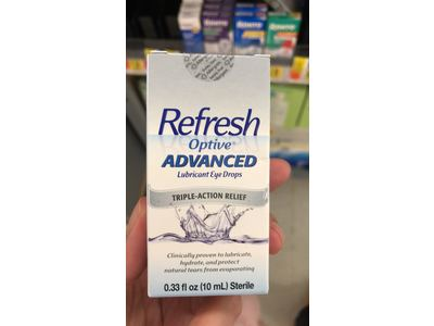 Refresh Optive Lubricant Advanced Triple Action Relief Eye Drops, 0.33 lb - Image 5