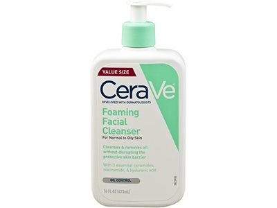 CeraVe Foaming Facial Cleanser, 16 Ounce