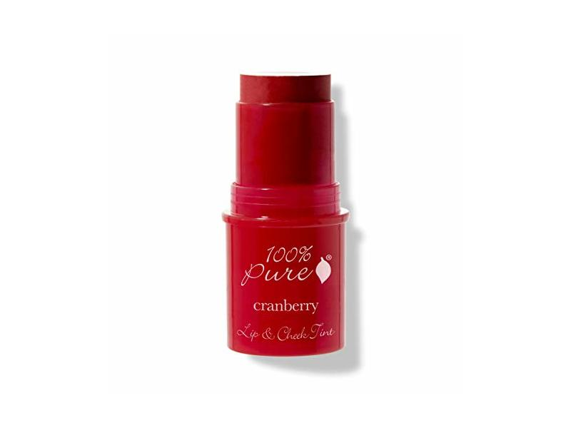100% PURE Lip & Cheek Tint (Fruit Pigmented), Cranberry Glow, .26 oz