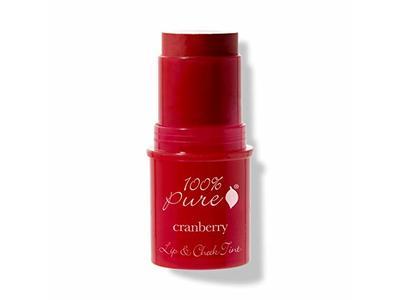 100% PURE Lip & Cheek Tint (Fruit Pigmented), Cranberry Glow, .26 oz