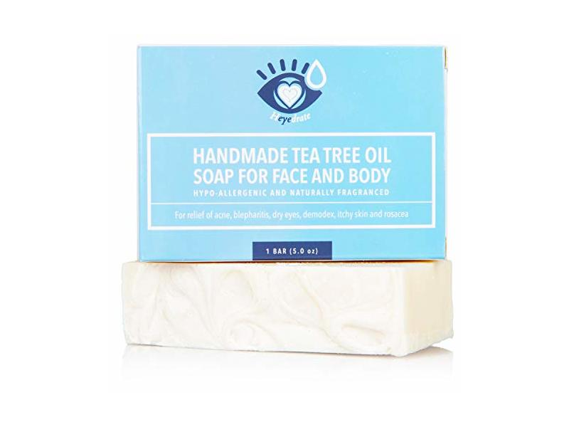 Tea Tree Oil Face Soap and Eyelid Scrub, 5 oz