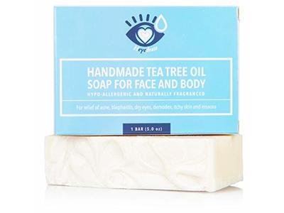Tea Tree Oil Face Soap and Eyelid Scrub, 5 oz