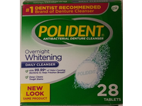 Polident Overnight Whitening Daily Denture Cleanser, 28 Tablets - Image 3