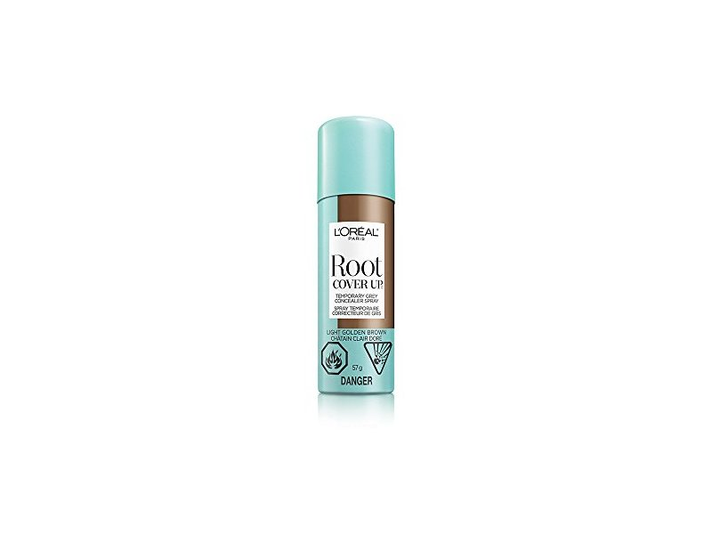 L'Oreal Paris Root Cover Up Temporary Gray Concealer Spray, Light Golden Brown, 2 Ounce