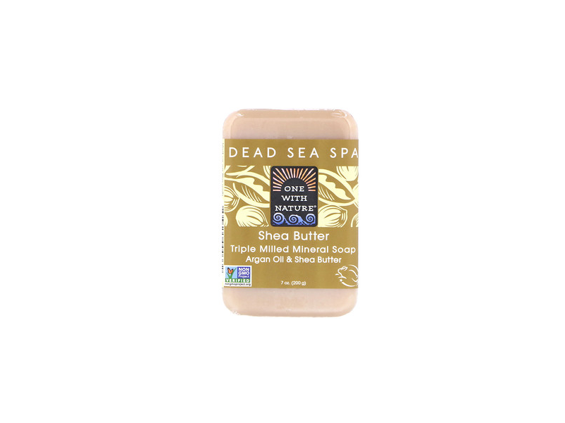 One With Nature Dead Sea Mineral Shea Butter Soap, 7 oz