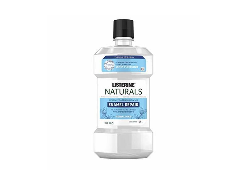 Listerine Naturals Enamel Repair Mouthwash, Herbal Mint, 500 mL