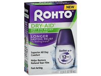 Rohto Dry-Aid Dry Eye Relief Lubricant Eye Drops, Longer Lasting Relief, 0.34 fl oz - Image 2