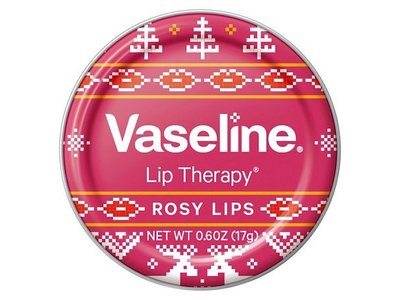 Vaseline Rosy Lip Therapy Holiday Sweater Designed, 0.6 oz - Image 1