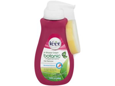 Veet Botanic Inspirations Hair Removal Cream, Sensitive Formula, 13.5 Fl oz