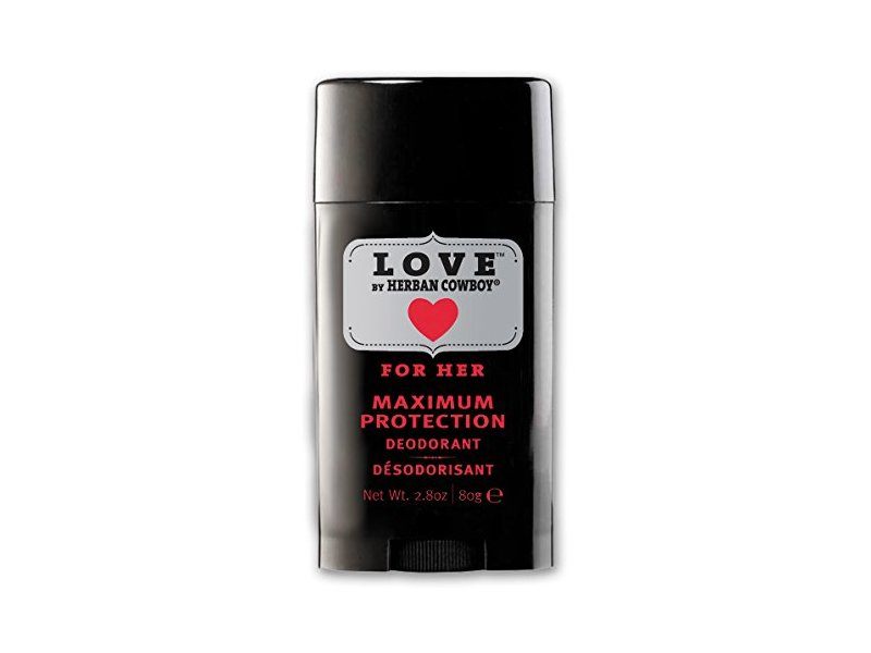Herban Cowboy Maximum Protection Deodorant, Love, 2.8 Ounce