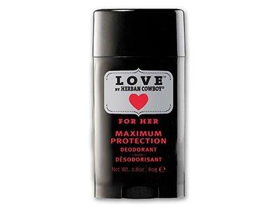 Herban Cowboy Maximum Protection Deodorant, Love, 2.8 Ounce