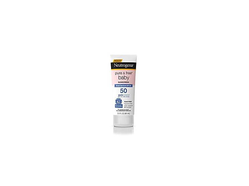 Neutrogena Pure & Free Baby Mineral Sunscreen Broad Spectrum SPF 50, 3 fl oz