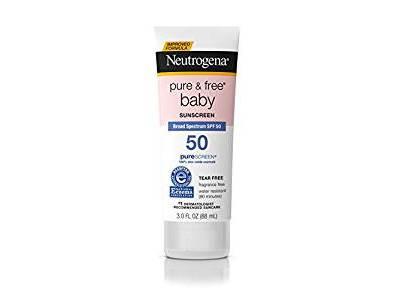 Neutrogena Pure & Free Baby Mineral Sunscreen Broad Spectrum SPF 50, 3 fl oz
