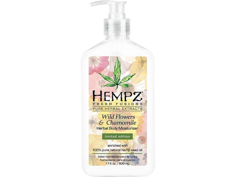 Hempz Herbal Body Moisturizer, Wild Flowers And Chamomile, 17 fl oz