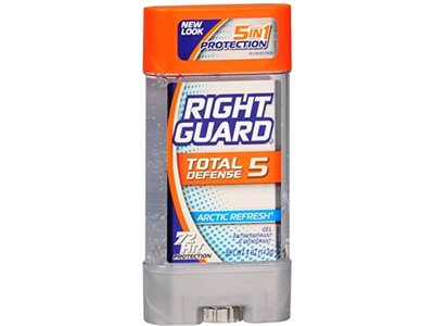 Right Guard Total Defense Power Gel Anti-Perspirant Deodorant, Arctic Refresh, 4-Ounce Tube (Pack of 6)