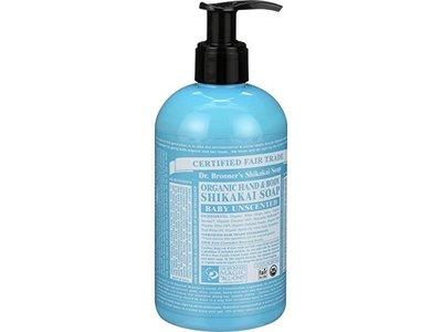 Dr. Bronner's Shikakai Soap, Organic Hand & Body, Baby Unscented, 12 fl oz