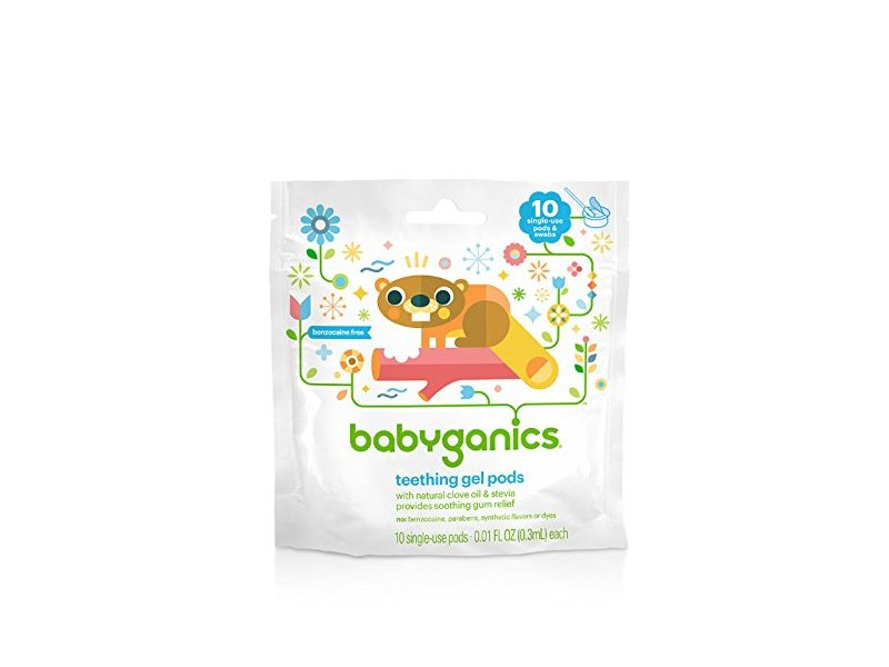 Babyganics Single-Use Teething Gel Pods, 10 CT
