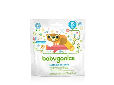 Babyganics Single-Use Teething Gel Pods, 10 CT - Image 1