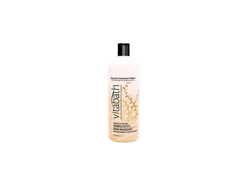 Vitabath Bubble Bath, Heavenly Coconut Creme, 33.8 Fluid Ounce