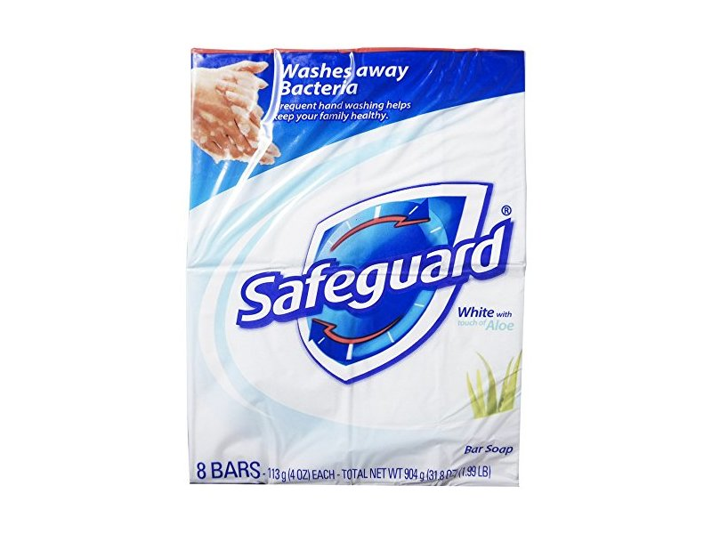 Safeguard Antibacterial Soap, White with Aloe, 4 oz