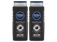 Nivea For Men Body Wash Active Clean Deep Cleansing Charcoal, 16.9 FL OZ - Image 2