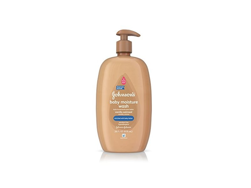 Johnson's Baby Moisture Wash, Vanilla Oatmeal, 28 Fluid Ounce