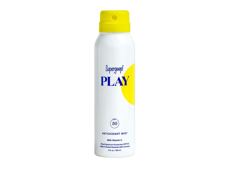 Supergoopl Play Antioxidant Mist With Vitamin-C SPF 50, 3 fl oz/89 ml
