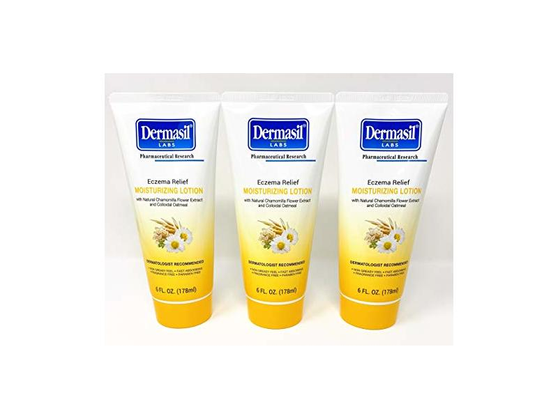 Dermasil Labs Eczema Relief Moisturizing Lotion, 6 Fl Oz