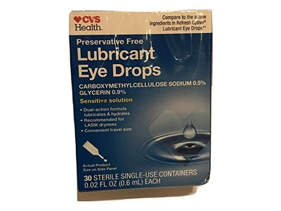 CVS Health Lubricant Eye Drops, 30 count