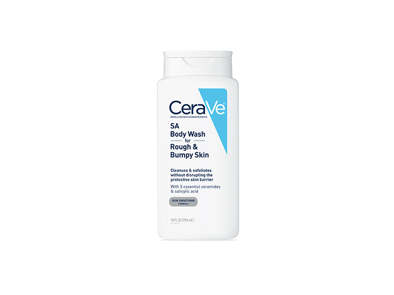 CeraVe SA Body Wash for Rough & Bumpy Skin, Skin Smoothing