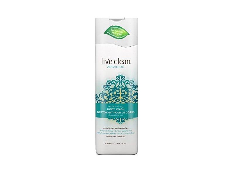 Live Clean Body Wash Argan Oil 17oz Pump (2 Pack)