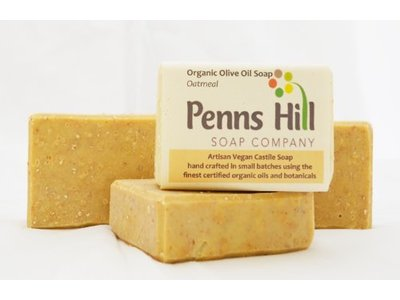 Penns Hills Organic Extra Castile Soap with Organic Oats, Unscented, 5 oz (4 Pack) - Image 1