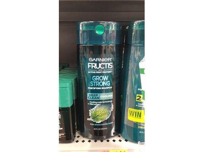 Garnier Fructis Grow Strong Cooling Deep Clean Shampoo Invigorated Hair, 22 fl oz - Image 3