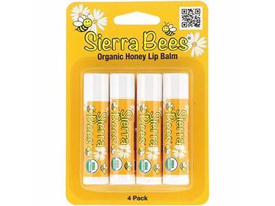 Sierra Bees Organic Lip Balms Honey 4 Pack 15 oz 4 25 g Each