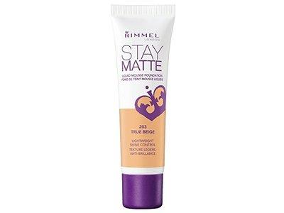 Rimmel Stay Matte Foundation, True Beige, 1 Fluid Ounce - Image 1