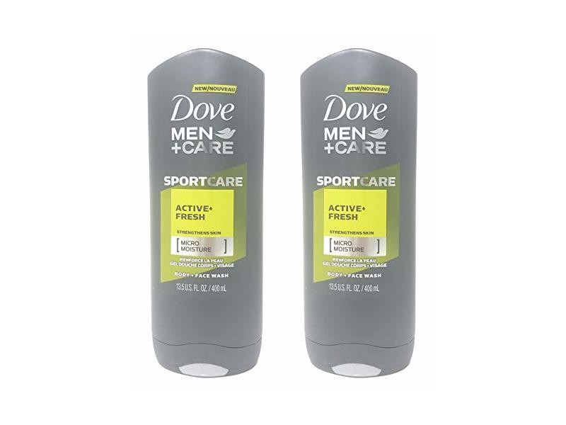 Dove Men+Care SportCare Body Wash Active + Fresh, 13.5 oz