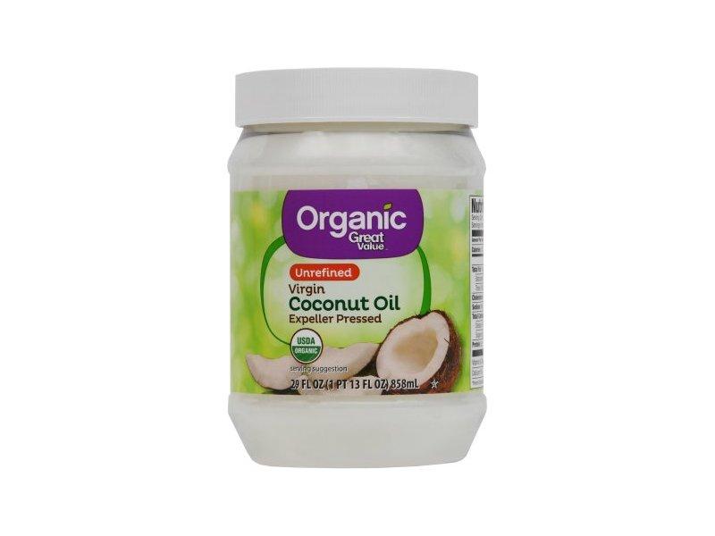 Great Value Unrefined Organic Virgin Coconut Oil, 54 fl oz