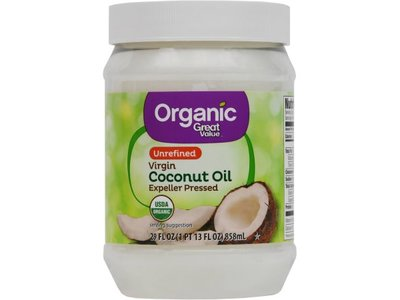 Great Value Unrefined Organic Virgin Coconut Oil, 54 fl oz