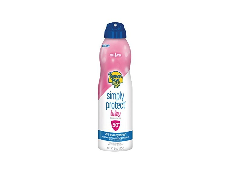 Banana Boat Simply Protect Tear-Free Broad Spectrum Sunscreen Spray with SPF 50, 6 oz