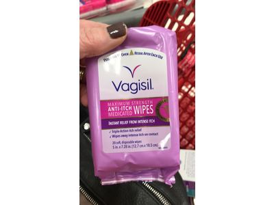 Vagisil Maximum Strength Anti-Itch Medicated Wipes, 20 ct - Image 3